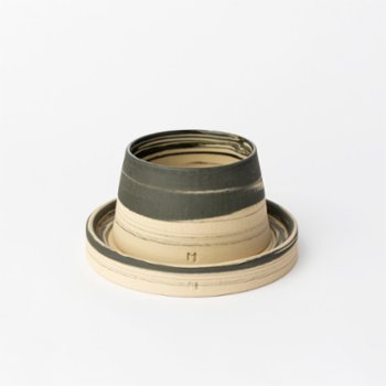 Masuma Ceramics - Midnight Espresso Cup & Glass Plate