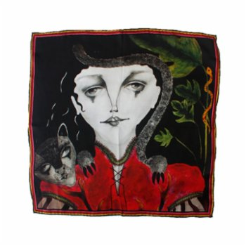 Ubeen - Queen Of The Forest Silk Scarf