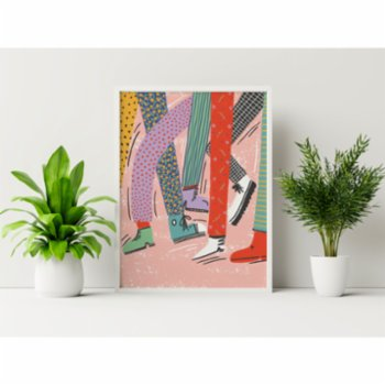 Omm Creative - Colorful Feet Poster