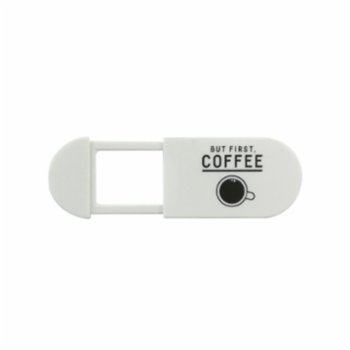 Funsy - Sliding Webcam Cover | But First Coffee