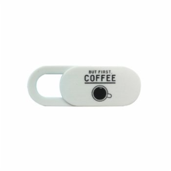 Funsy - Sliding Webcam Cover | But First Coffee Mini