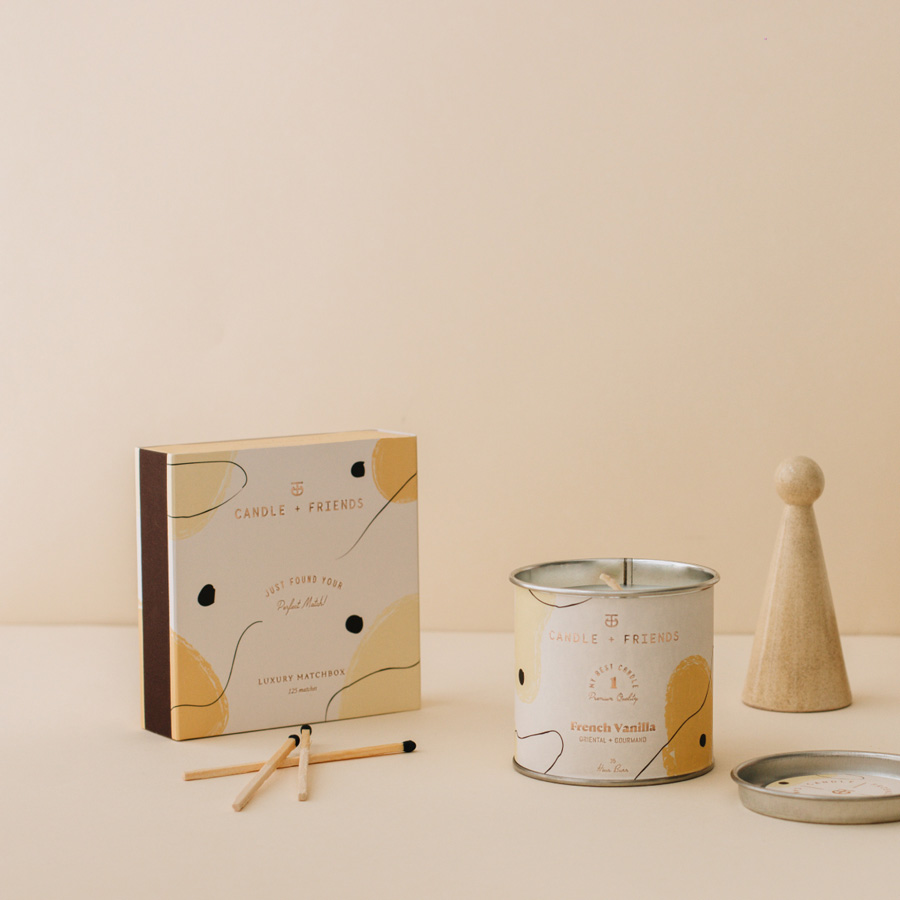 Candle and Friends - No.1 French Vanilla Kibrit Kutusu