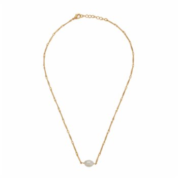 Miklan Istanbul - Lola Pearl Gold Necklace