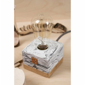 Womodesign - Marble Textured Concrete Table Lamp - I