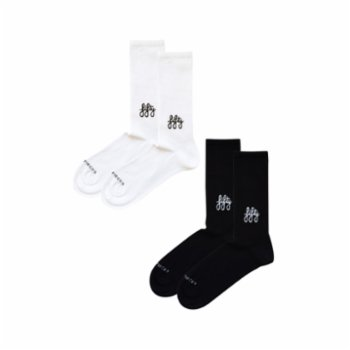 Fifty Pieces - Favorite Socks 2-Pack / White-black