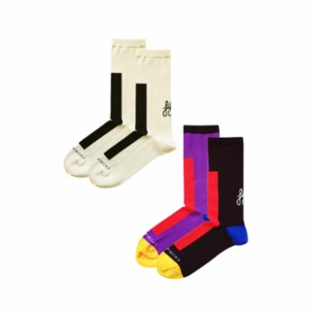 Fifty Pieces - Contrast Socks 2-Pack / Multicolored