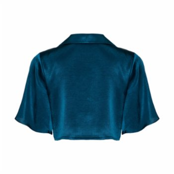 Simple Favor - Flared Sleeve Cropped Shirt