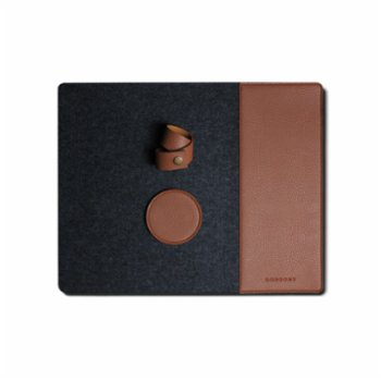 Gorgons - Aegina Felt Placemat Set with Leather Detail
