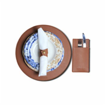 Gorgons - Danae Leather Placemat Set