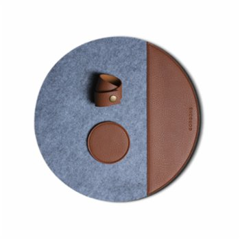 Gorgons - Europa Felt Placemat Set with Leather Detail