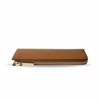 Bustha - Earth C Zip Pen Flat Zipper Leather Pencil Case
