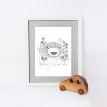 paperwork.istanbul - Lion In The Forest Art Print