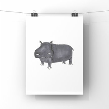 paperwork.istanbul - Hippo Poster