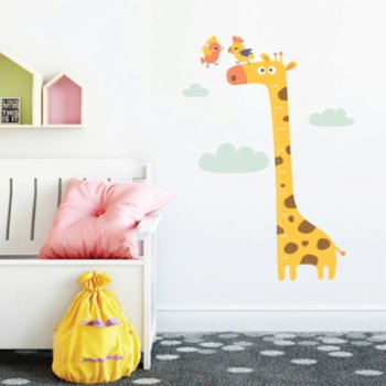 Jüppo - Giraffe And Parrots Wall Sticker Height Ruler
