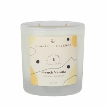 Candle and Friends - No.1 French Vanilla Çift Fitilli Cam Mum