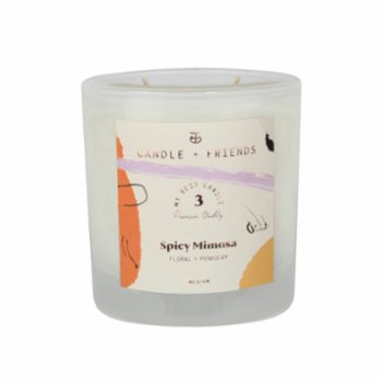 Candle and Friends - No.3 Spicy Mimosa Çift Fitilli Cam Mum