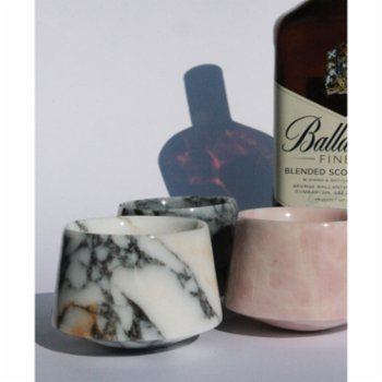 Urban Muse Home - Lilac Marble Whiskey Glass