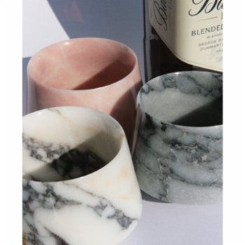 Urban Muse Home - Afyon Pink Marble Whiskey Glass