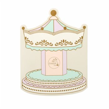 Cheerlabs - Happy Birthday Greeting Card With Music - Carousel