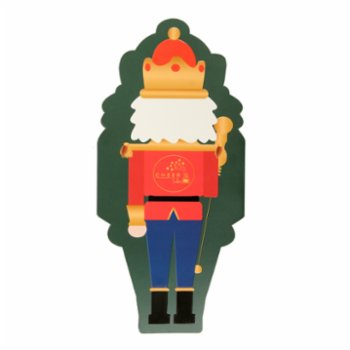 Cheerlabs - Merry Christmas Musical Greeting Card - Nutcracker Lead Soldier