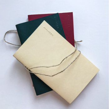 Paper Mountain - Set of 3 The Naked Midi Notebook
