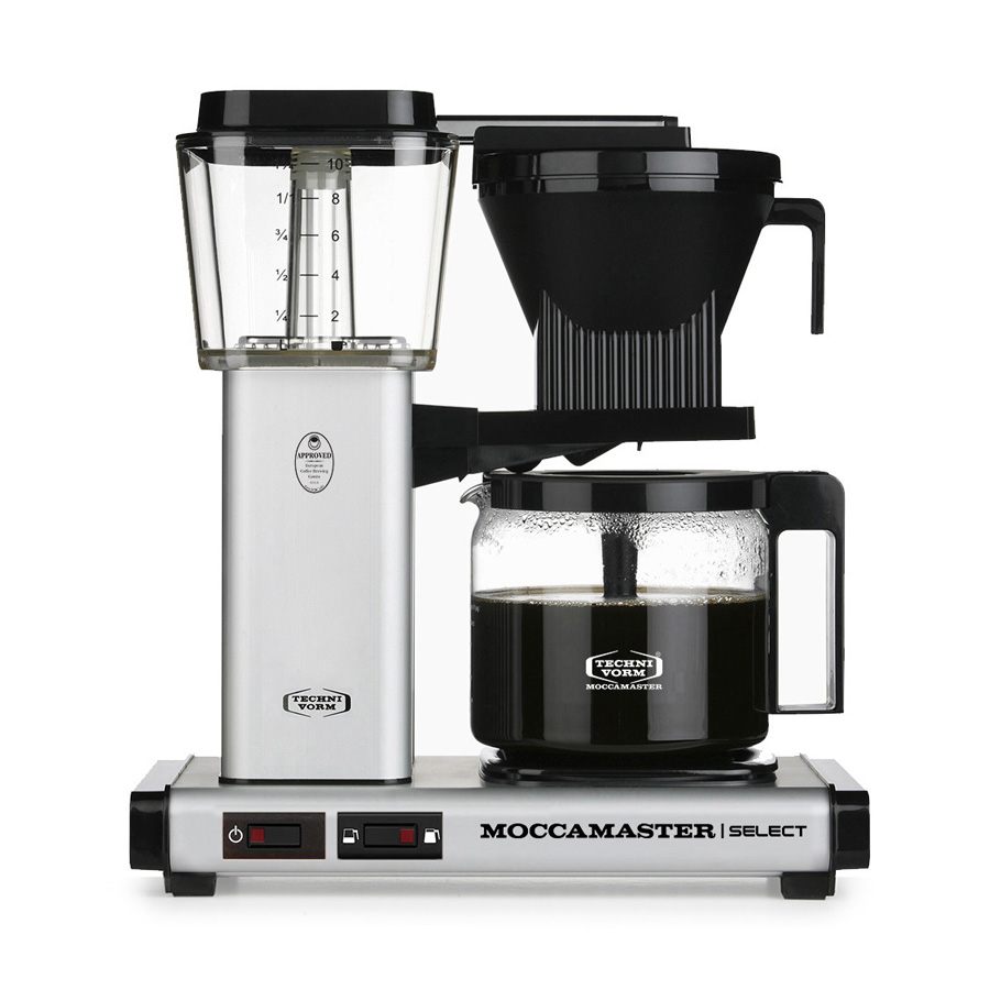 Moccamaster - Select Filter Coffee Machine Glass Pot - with Filter Paper