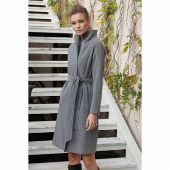 Semplice - Charlotte  Double Breasted High Neck  Cachet Coat