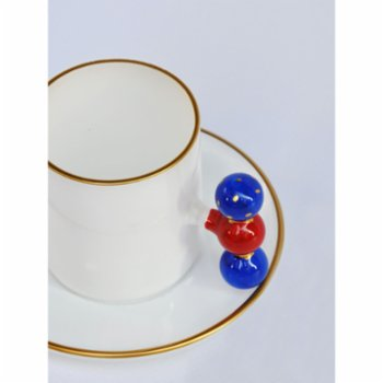 Martius - Red Bubble Coffee Cup And Saucers