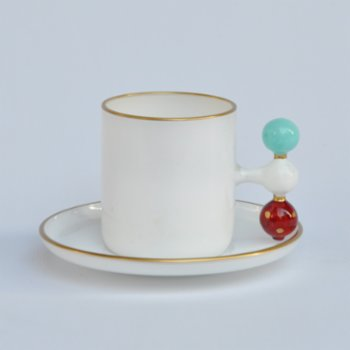 Martius - Sky Bubble Coffee Cup And Saucers