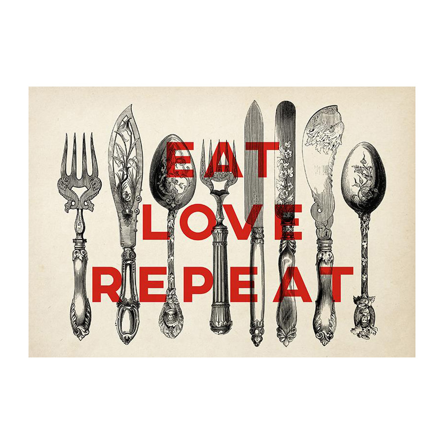 Sauca Collection  - Eat Love Cutlery Printing