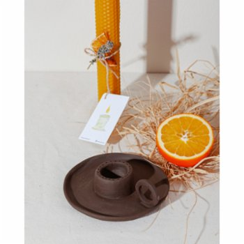 Root Aromaterapi - Special Design Brown Candle Holder and Incensory