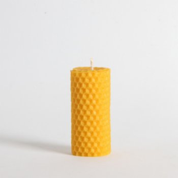 Root Aromaterapi - Set of 3 Small Size Rolled Natural Beeswax Candles