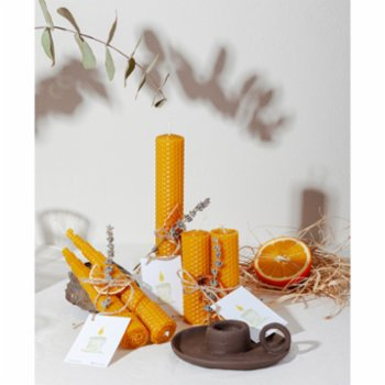 Root Aromaterapi - Thick Size  Rolled Natural Beeswax Candle