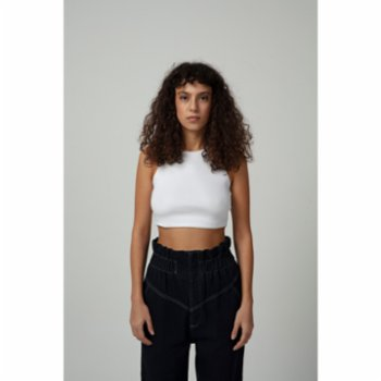 Fifty Pieces - Ribbed Crop Tank Top