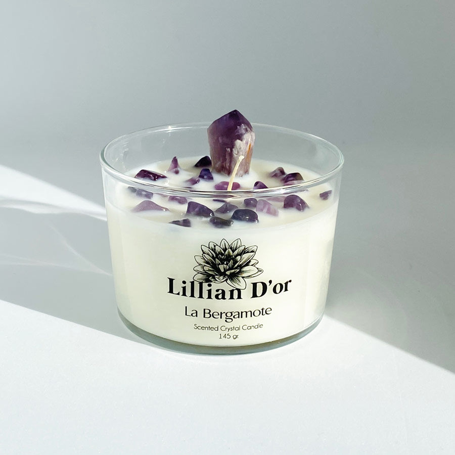 Lillian D'or Co. - Amethyst Crystal Candle