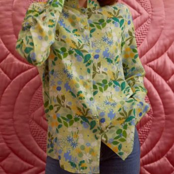 Yaka Studio - Ain't Enough Flowers! - Mandarin Shirt
