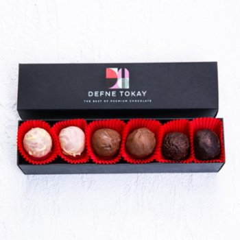 Defne Tokay Premium Chocolate - Mixed 6 Pieces Truffle Box