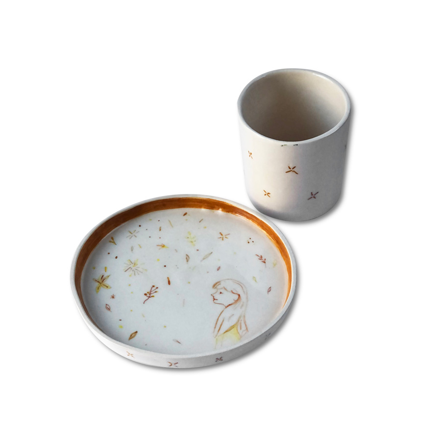 Sed Ceramic Design - Unfinished Cup and Plate Set
