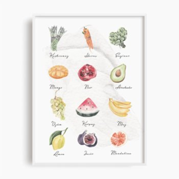 Atelier I 2n - Fruits and Vegetables Poster