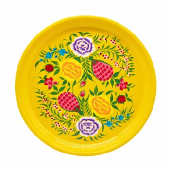3rd Culture - Yellow Floral Round Tray
