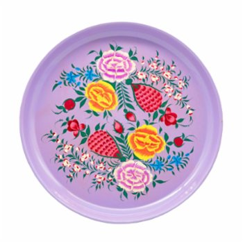3rd Culture - Lilac Floral Round Tray