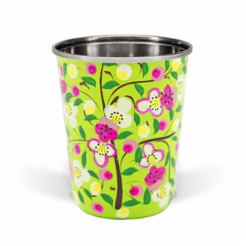 3rd Culture - Small Lime Floral Tumbler