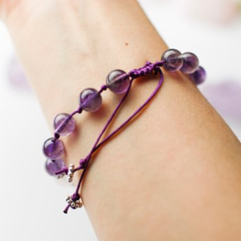 Boho Yoga Art - Amethyst Bracelet – Heuristics and Possibilities