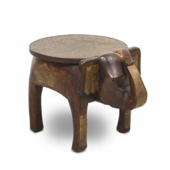 Thinstone - Elephant Figured Antique Mini Table