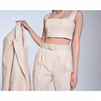 Luxez - Millie Linen Crop Top