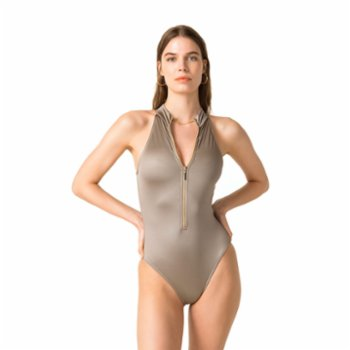 Movom - Cleo High Neck Zipper Swimsuit