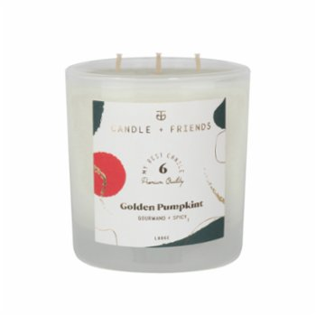 Candle and Friends - No.6 Golden Pumpkint Large Glass Candle