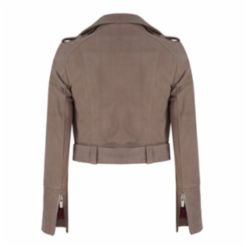 Haze of Monk - Taupe Suede Classic Jacket