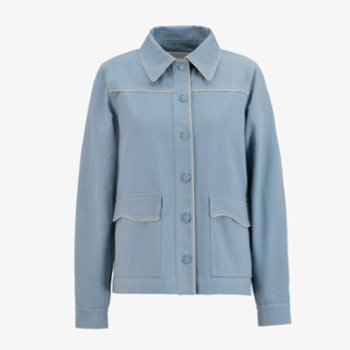 Faund - Cotton Jacket With Piping Detail
