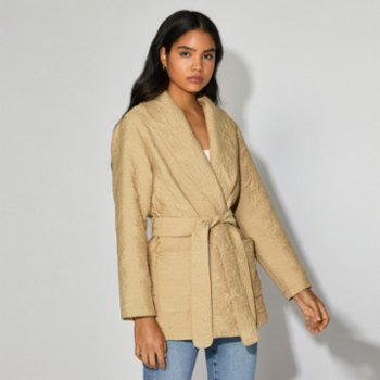 Faund - Quilted Wrap Coat